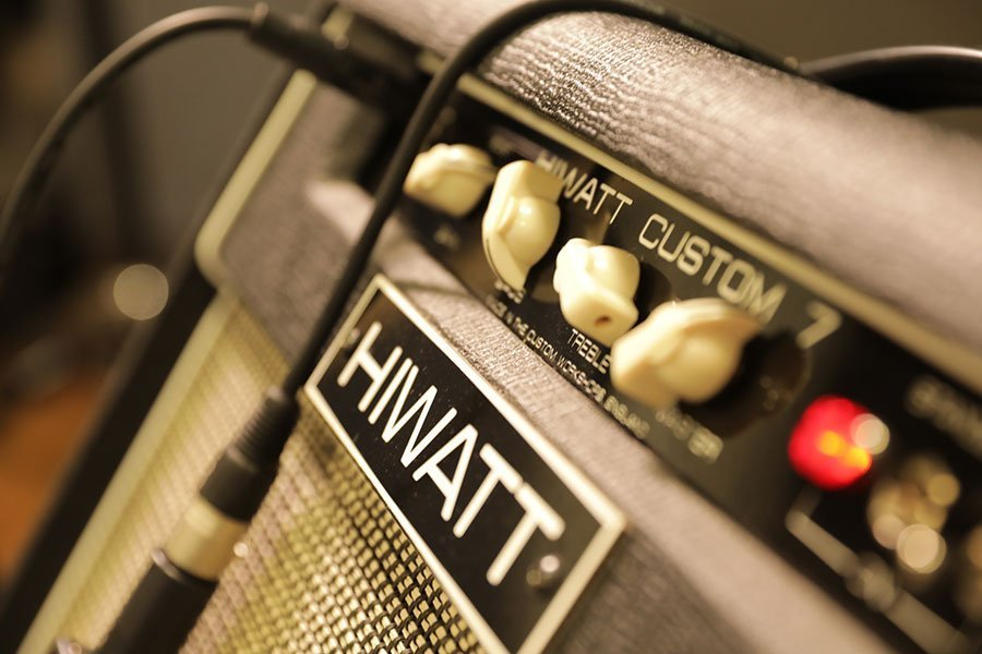 Hiwatt amplifier at Innervoice Media